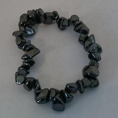 armband grijze steentjes