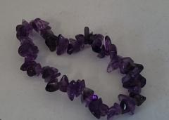 armband paarse steentjes