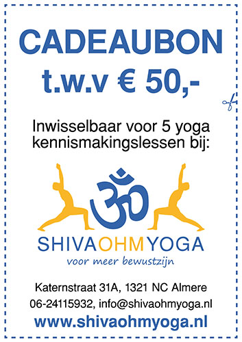 cadeaubon Shiva Ohm Yoga
