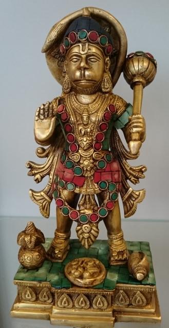 Hanuman, gekleurd koper
