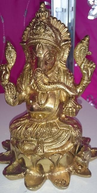 koperen handmade Ganesha