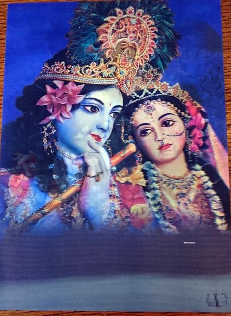 3D poster Radha Krishna