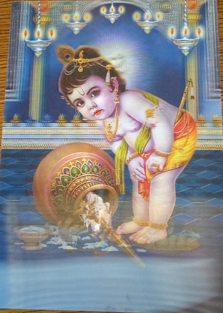 3d poster baby Krishna