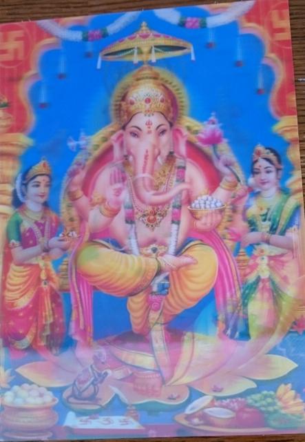 3D poster Ganesh & Laxmi