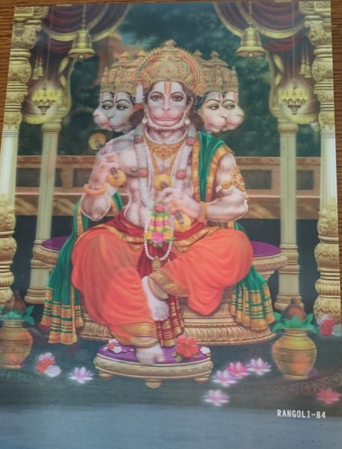 3D poster Hanuman